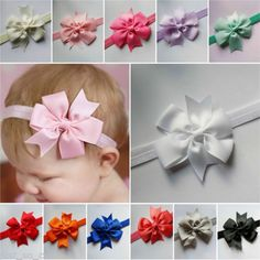 Sale 12% (1.35$) - Cute Newborn Baby Kids Headband Infant Toddler Bow Hair Band Girls Accessories