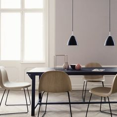 One of Gubi's most innovative products the Gubi Chair collection was designed by Boris Berlin and Poul Christiansen of Komplot Design Gubi 3D Dining Chair is available with an upholstered front as well as a full upholstered option. by lukefurniture