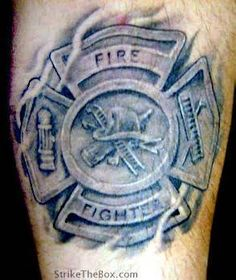 What does firefighter tattoo mean? We have firefighter tattoo ideas, designs, symbolism and we explain the meaning behind the tattoo. Maltese Cross Firefighter, Firefighter Tattoos, Cross Tattoos For Women, Tattoos For Guys, Symbol Tattoos, Tatoos, Maltese Cross Tattoos, Fireman Tattoo, Tattoo Artists