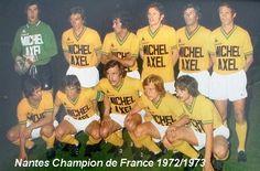 1972/73 F.C Nantes Fc Nantes, Football Team, Football Stuff, Soccer, Baseball Cards, Sports, Henri, Forever, Michel