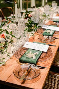 Romantic bohemian wedding inspo | ElegantWedding.ca Elegant Wedding, Boho Wedding, Dream Wedding, Flower Decorations, Table Decorations, Table Setting Inspiration, Wedding Place Settings, Wedding Centerpieces, Wedding Events