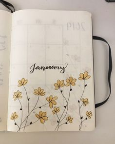 Want to add some cute little flower doodles to your bullet journal and need some ideas to get started? Check out these awesome step by step guides for inspiration! Bullet Journal Lettering Ideas, Bullet Journal Cover Ideas, Bullet Journal Ideas Pages, Bullet Journal Layout, Bullet Journal Inspiration, Bullet Journal School, January Bullet Journal, Bullet Journal Notebook, Kalender Design