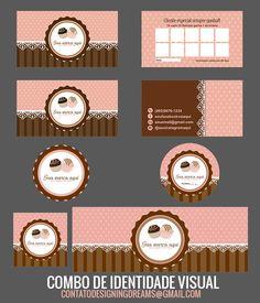 LOGOTIPO BRIGADEIROS E BOLOS - Cantinho do blog Brownie Packaging, Baking Packaging, Food Packaging Design, Bakery Business Cards, Cake Logo Design, Food Cartoon, Bakery Logo, Logo Sticker, Cake Shop