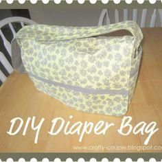 Free Print Diaper Bag Pattern   Make Your Own Baby Bag {Diaper Bag} - Tip Junkie
