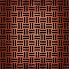A woven pattern of doubled horizontal and vertical black marble strands on a brushed copper background.