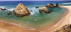 https://flic.kr/p/8i4JAg | Panorama - Porto Côvo | Come back today from my summer vacations in Algarve and Alentejo! This is a panoramic shot of Samouqueira beach in Porto Côvo, where i spent very refreshing times :-D - it was very hot around here, with temperatures above 40º C. Beautiful beach and almost empty, in July... How i love Porto Côvo :-D!  Those rocks you see are plenty of sea food - In one day they were part of our dinner :-)  The photo was 25 MB so I reduce the size to 8.5 MB…