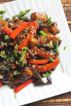 Sweet and Sour Eggplants Recipe - Yummy Tummy Veggie Recipes, Indian Food Recipes, Asian Recipes, Vegetarian Recipes, Cooking Recipes, Healthy Recipes, Healthy Eggplant Recipes, Chinese Recipes, Chinese Food