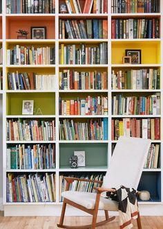 Rainbow shelves.