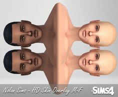 HD skin overlay M-F at Nolan Sims via Sims 4 Updates