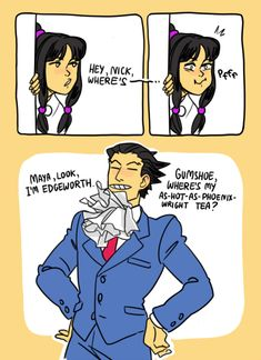 phoenix wright imitating edgeworth