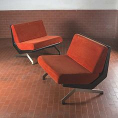 Pair of Lounge Chairs by Gianni Moscatelli for Formanova | From a unique collection of antique and modern lounge chairs at https://www.1stdibs.com/furniture/seating/lounge-chairs/