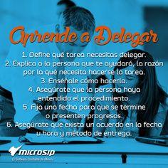#TipsMicrosip Aprende a delegar en 6 sencillos pasos