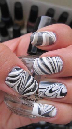 grey white nails