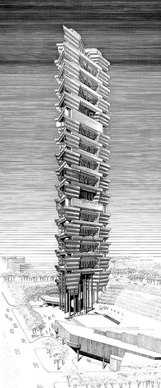 Paul Goes Tall - Unbuilt Projects And An Early Concept From Paul Rudolph's Asian High Rise Period.