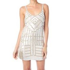 Parker Beaded Dress Worn a handful of times | love this dress Parker  Dresses Mini