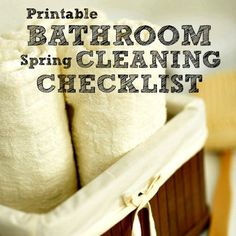 Printable bathroom spring cleaning checklist from Housewifehowtos.com