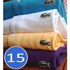 A Lot of 15 Men Polo Shirts Long Sleeve, Mix Order The Colors or Size