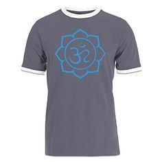 Shirtcity Om Lotus Flower Ringer Tshirt M Grey *** BEST VALUE BUY on Amazon
