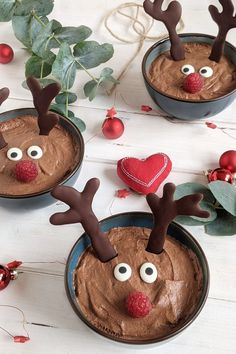 Mousse, Christmas In July, Xmas, Christmas Ornaments, Fabulous Foods, Diy Food, Gingerbread Cookies, Food And Drink, Low Carb