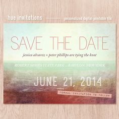 save the date announcement modern beach theme by hueinvitations, $20.00