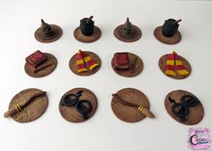 Harry Potter Cupcake Toppers by KrazyKoolCakeDesigns on Etsy