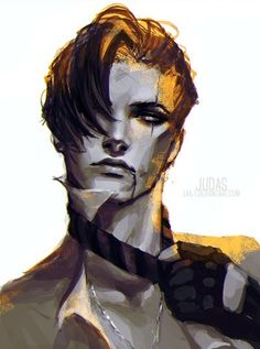Manga Character Drawing Azriel (Book so I'm expecting this to be a new character in ACOTAR book 2 so I'm very excited. Character Concept, Character Art, Concept Art, Male Character Design, Character Ideas, Fantasy Kunst, Fantasy Art, Character Illustration, Illustration Art