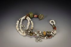Tribal Beachy Rustic Ethnic Assemblage by HutaPearlJewelry on Etsy, $95.00