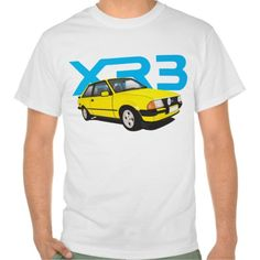 Ford Escort MK3 XR3 yellow DIY  #ford #escort #fordescort #mk3 #xr3 #tshirt #thirts #automobile #car #uk