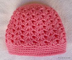 FREE PATTERN.  I'M MAKING THIS NEXT FOR A CUSTOMER!  PERFECT PINK SHELLS CAP