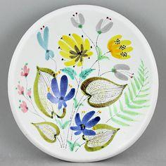 Stig Lindberg (1950s) Colorful Floral Faience Bowl