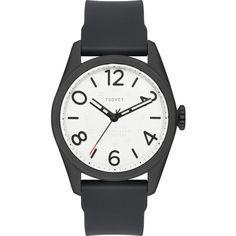Tsovet JPT-NT42 Japan Quartz Matte Black & White Watch | Black Rubber