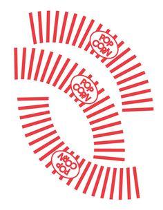 Printable Cupcake Wrappers, DIY Movie Party, Hollywood Party Cupcake Wrapper - Popcorn Cupcake Wrappers