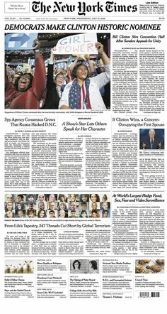 003 New York Times Newspaper Headlines the full text of
