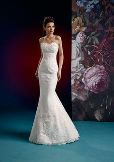 2016+Mermaid+Sweetheart+Neckline+Appliques+Pearls+Sweep+Organza+Wedding+Dresses+15077