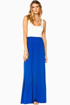 ShopSosie Style : Erin Maxi Dress in Royal and White