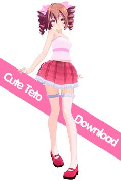 .: MMD Model:Tda Cute Teto Download :. by s0urce1911