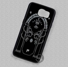 Gate of Moria On Black Lord of The Ring - Samsung Galaxy S7 S6 S5 Note 7 Cases & Covers