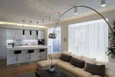 Modern Kichen Living Room Design by Alexey Nikolashina