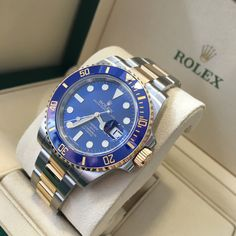 The perfect Rolex for summertime, love that blue!  Available now!
