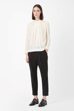 COS | Pleated silk top