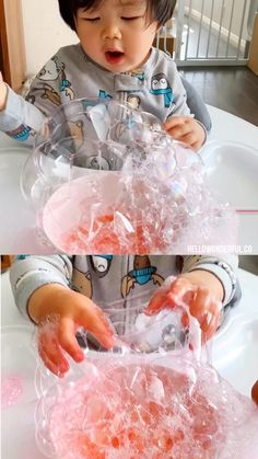 Blowing bubbles sensory play activity for babies and toddlers. Bubble art, blowing bubbles and bubble fun! #hellowonderful