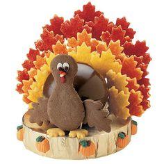 turkey cookie centerpiece