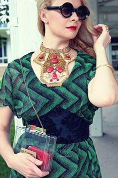 necklace. Red and Green