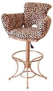 Leopard print bar stool