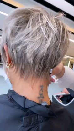 Short Shaved Hairstyles, Mom Hairstyles, Cute Hairstyles For Short Hair, Short Hair Styles, Fine Hair Hairstyles, Short Layered Hairstyles, Pixie Haircut Styles, Pixie Haircut For Thick Hair, Sassy Haircuts