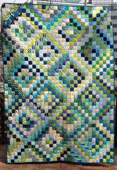Blue & Green Scrappy Trip Quilt