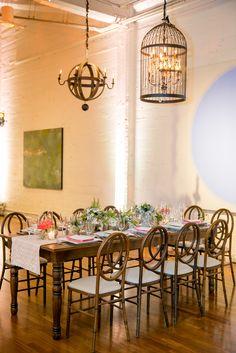 Terra Gallery Dining Room Reception Setup | Blueprint Studios | Knight Visions | La Tavola Fine Linen Rental https://www.theknot.com/marketplace/la-tavola-fine-linen-rental-san-francisco-ca-801647 | Sharla Flock Designs | Lisa Feldman Designs | Larissa Cleveland Photography https://www.theknot.com/marketplace/larissa-cleveland-photography-san-francisco-ca-614905