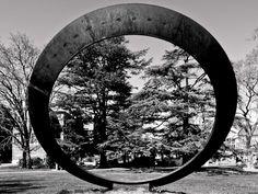 Pentax Q, 02 lens at 5.3mm, 1/100 f4.5, ISO125 Annual Ring by Rodger Berry, 1987-2009. http://rogerberry.info/Sculpture/SantaRosa/SantaRosa_01.html