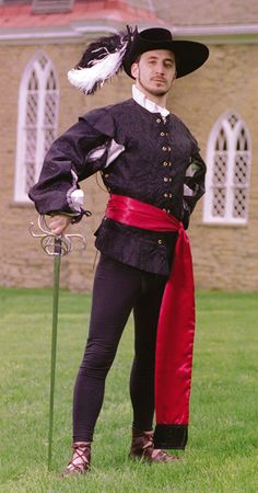 Duke's doublet in black brocade.