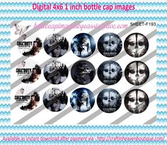 """1"""" Bottle Caps (4X6) F193 call of duty ghosts celebrities bottle cap images #celebrities #bottlecap #BCI #shrinkydinkimages #bowcenters #hairbows #bowmaking #ironon #printables #printyourself #digitaltransfer #doityourself #transfer #ribbongraphics #ribbon #shirtprint #tshirt #digitalart #diy #digital #graphicdesign please purchase via link http://craftinheavenboutique.com/index.php?main_page=index&cPath=323_533_42_60"""